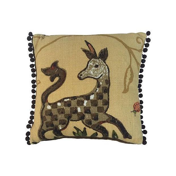 La Menagerie Animal Motif Pillows - A Pair - Image 2 of 4