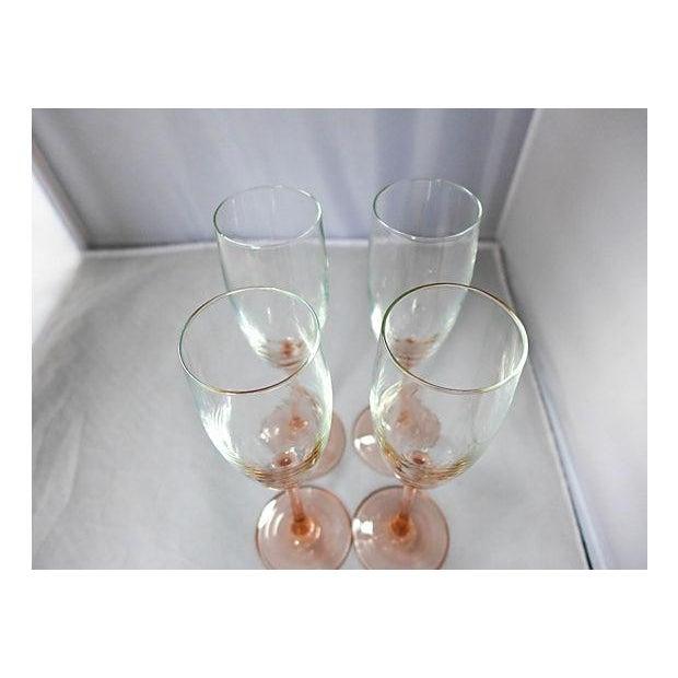 Pink Stem Champagne Glasses - Set of 4 - Image 7 of 7