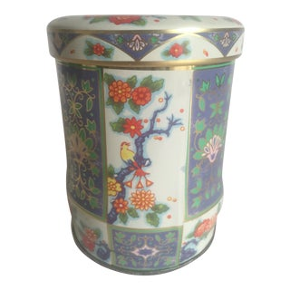 Vintage English Floral Tea Tin Container