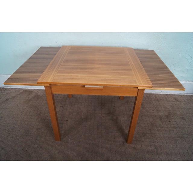 Danish Modern Teak Refractory Square Dining Table - Image 4 of 10