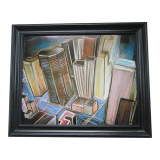 Industrial Abstract Cityscape Signed Framed Print