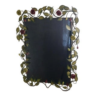 Bronze Framed Rose & Vine Mirror