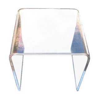 1970s Lucite waterfall Side Tables - A Pair