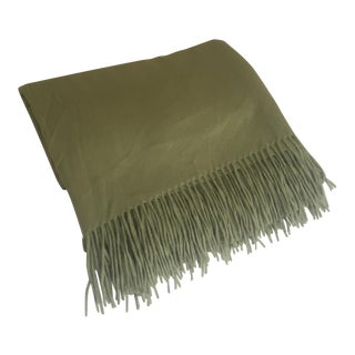 Williams-Sonoma Sage Cashmere Throw