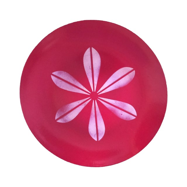 Catheineholm Red Lotus Plate - Image 1 of 5