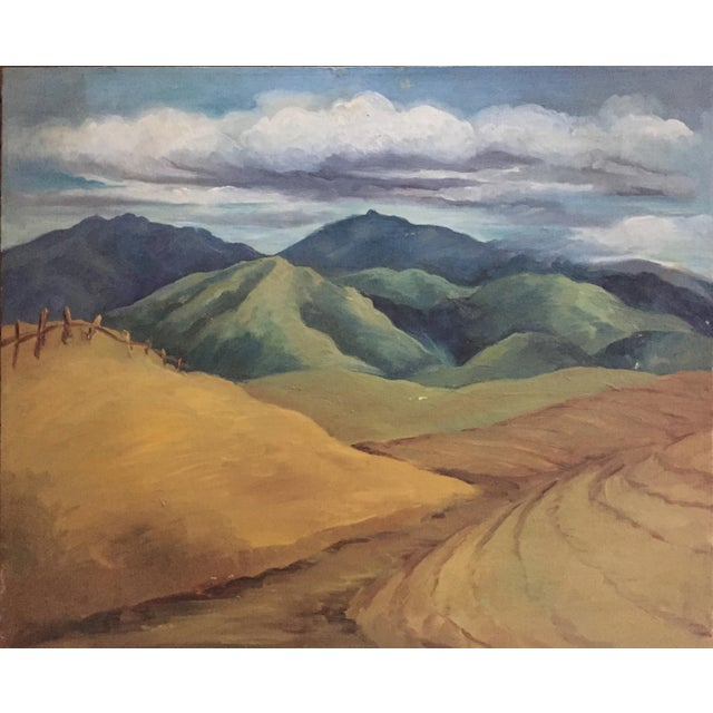 Image of Mid-Century California Gold Will Frates Painting