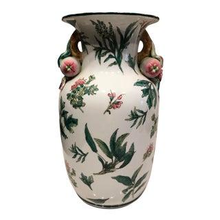 Vintage Floral Painted Porcelain Vase