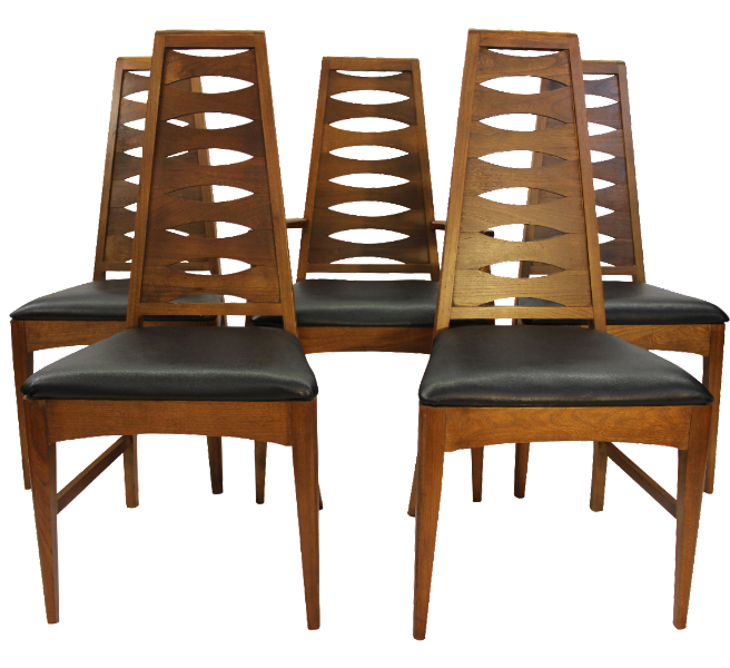 Mid Century Dining Chairs Broyhill   Set Of 5