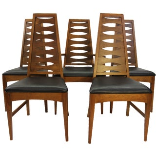 Mid Century Dining Chairs Broyhill - Set of 5