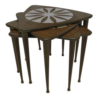Mid-Century Modern Nesting Tables - Set of 4
