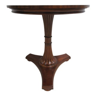 Ethan Allen Upton Pedestal Lamp End Table Inlaid