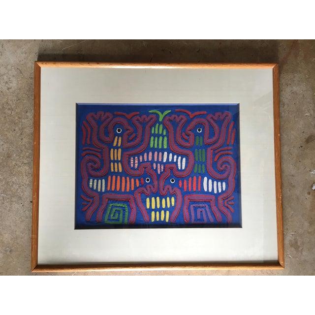 Vintage Indian Mola Framed Textile Art - Image 2 of 10