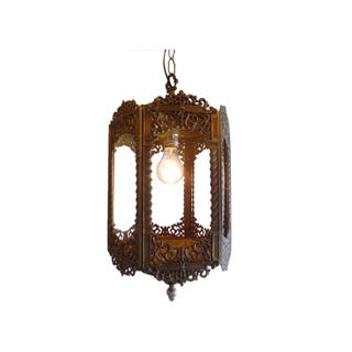 Vintage Ornate Brass Lantern