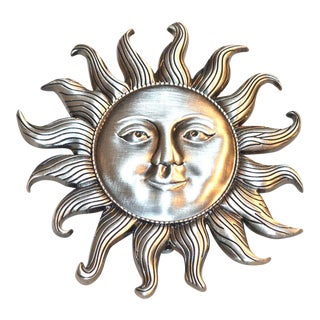 Silver Pewter Sunshine Door Knocker