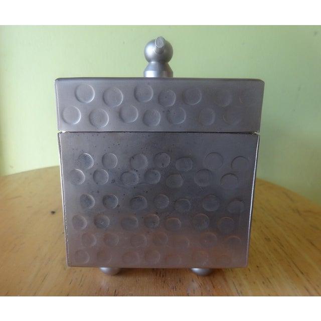 Sleek Miniature Silver Jewelry Box - Image 6 of 7