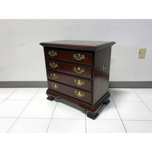 JF Delwood Solid Cherry Chippendale Chairside Chest - Image 3 of 11