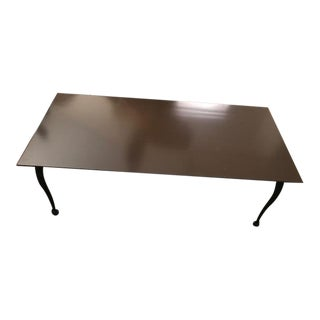 Copper Top Metal Coffee Table