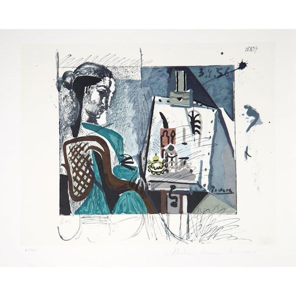 """Pablo Picasso, """"Femme Dans L'Atelier,"""" Lithograph - Image 1 of 2"""