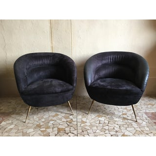 Charming Pair of Armchairs by ISA