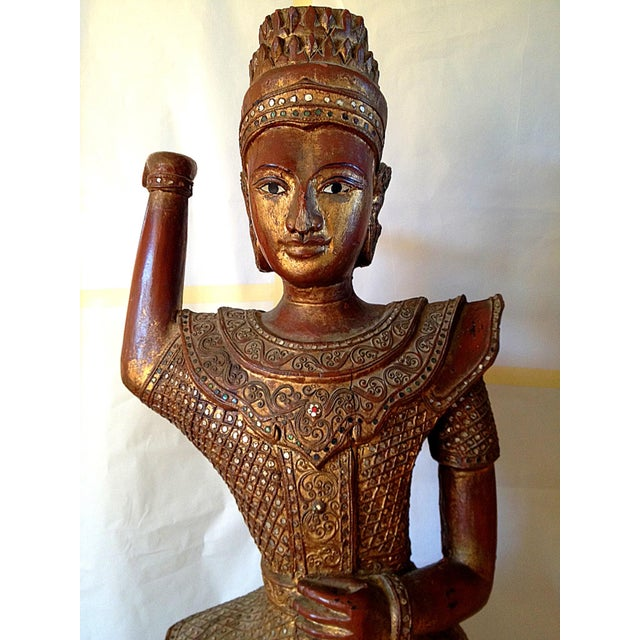 Large Wooden Dancing Figure - Image 9 of 11