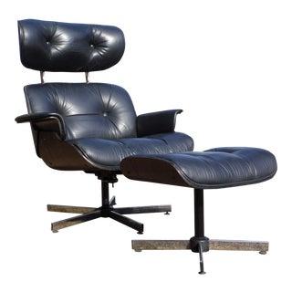 1960s Plycraft Mid-Century Lounge Chair & Ottoman