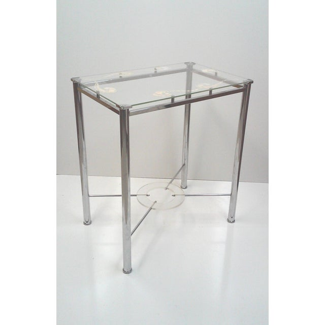 Chrome and Lucite Side Table - Image 7 of 7