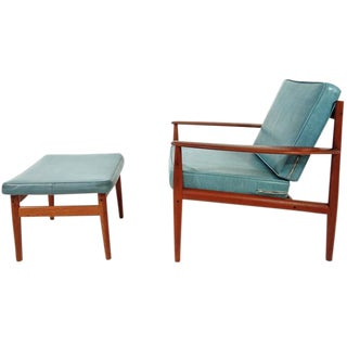 Grete Jalk Lounge Chair and Ottoman