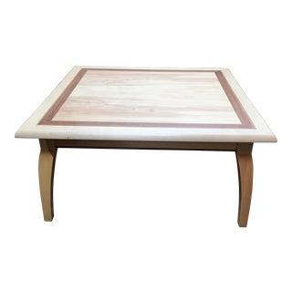 Ash & Walnut Inlay Square Coffee Table