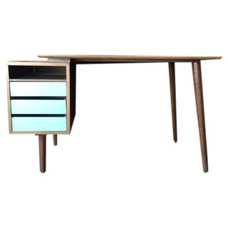 Mid Century Style Custom Walnut Desk