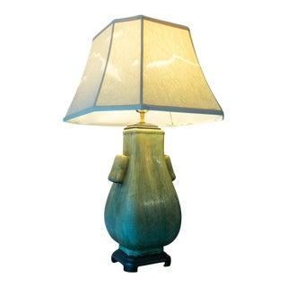Jade Green Ceramic Crackle Lamp