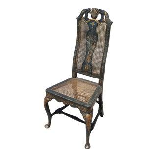 Antique Blue & Gilt Chinoiserie Chair