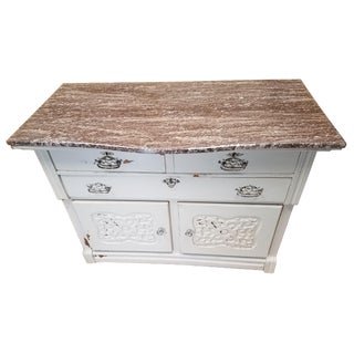 Farmhouse Sideboard with Marble Top