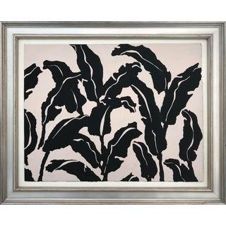 Vintage Mid Century Modern Abstract Foliate Painting
