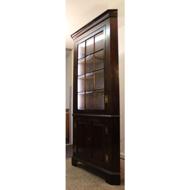 Henkel Harris Genuine Lighted Corner Cabinet - Image 3 of 11