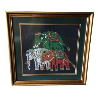 Vintage Thai Painting on Silk