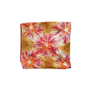 Crate & Barrel Tie Dye Orange Pillow - Pair