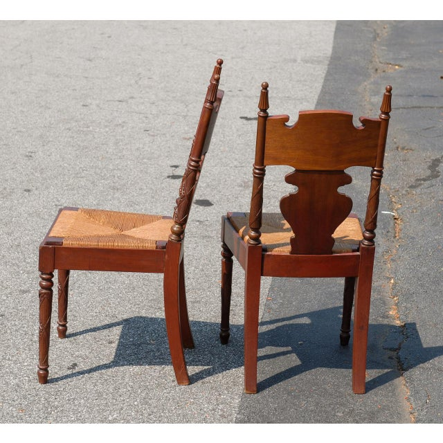 r.j. Horner Empire Revival Hall Chairs - a Pair - Image 3 of 3