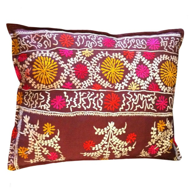 Vintage Suzani Pillow - Image 1 of 4