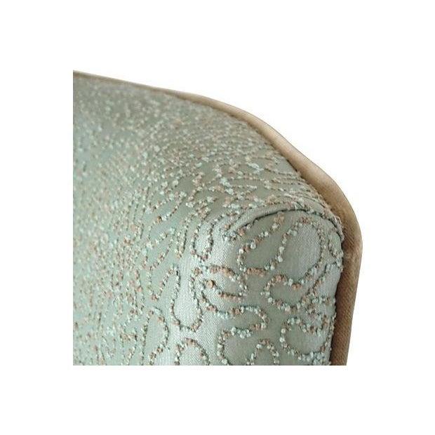 Image of Sea Foam Velvet Swirl Chairs- A Pair