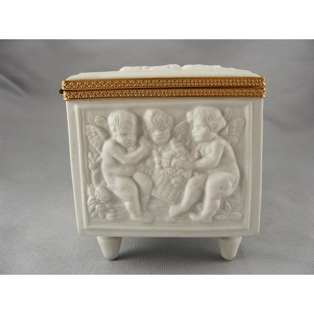 Limoges France White Bisque Dresser Box - Image 5 of 10