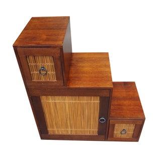 Vintage Step Tansu Cabinet