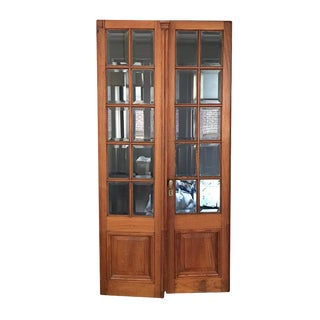 19th Century Architectural Cedar French Doors - A Pair