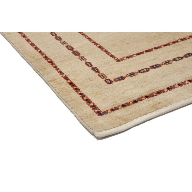 """Contemporary Hand Knotted Area Rug - 4'1"""" X 6'4"""" - Image 2 of 3"""