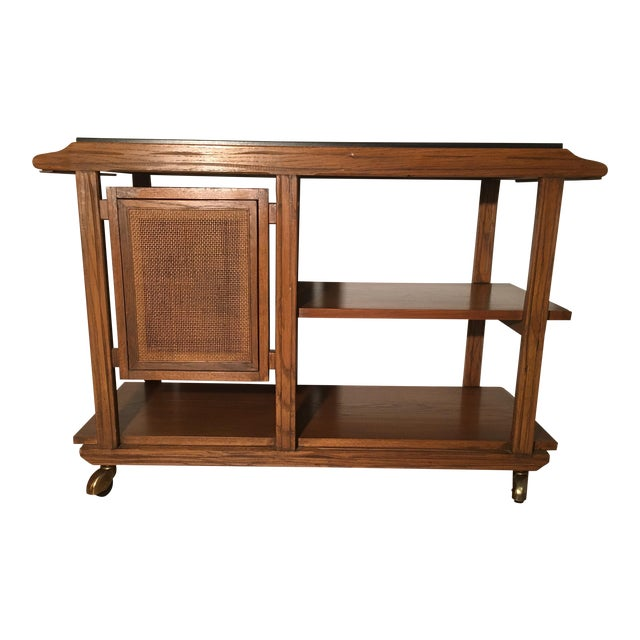 Mid-Century A. Brandt Ranch Oak Serving Cart - Image 1 of 10