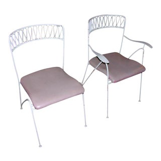 Tempestini for Salterini Wrought Iron Ribbon Chairs - Set of 14
