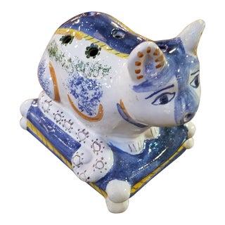 Portuguese Majolica Pottery Kitty Tulipiere Vase