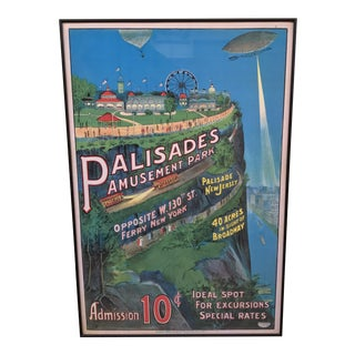 Framed Palisades Amusement Park Poster Print