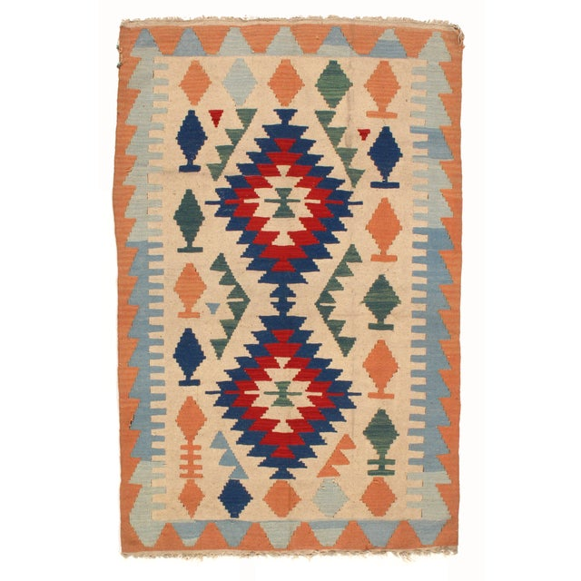 Hand Woven Turkish Reversible Kilim Rug - 4' X 6'