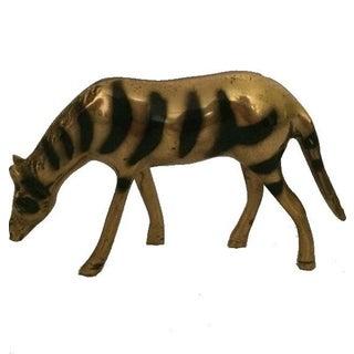 Vintage Brass Zebra Figurine