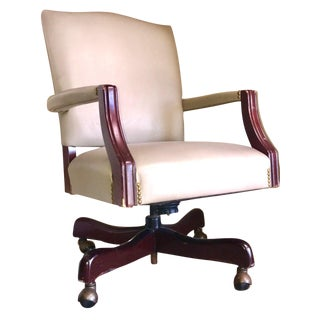 Paoli Industries Leather Studded Executive Armchair
